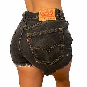 "505 Levi's high rise denim cutoff shorts size 30"""